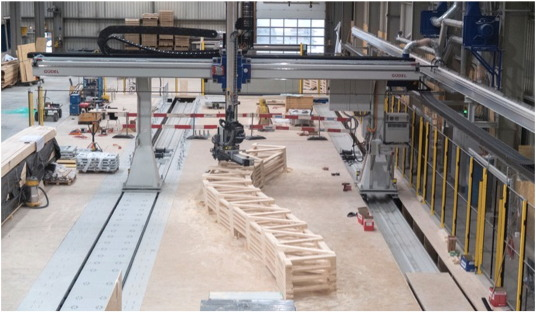 Scottish research purpose robotic timber construction