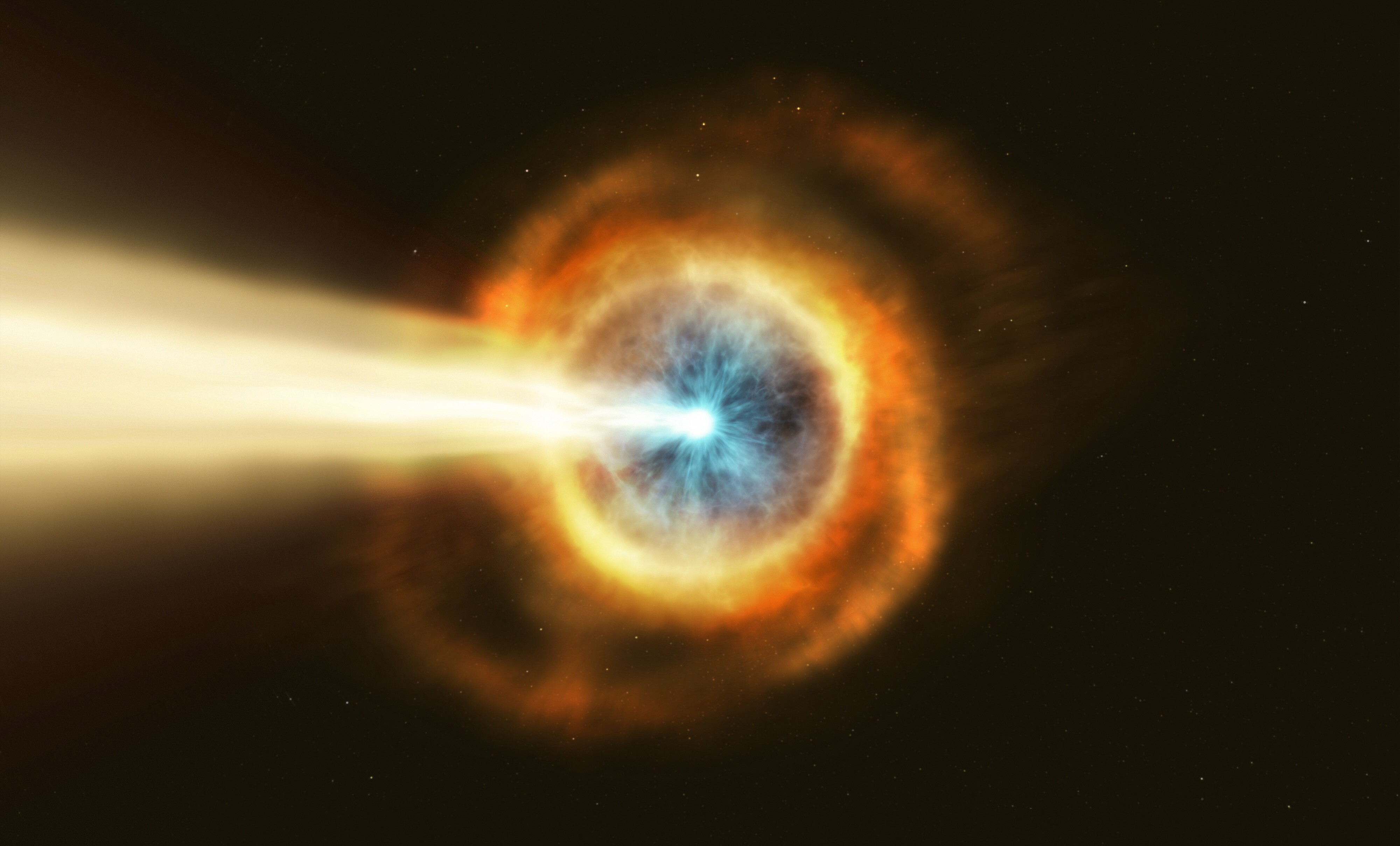 'Hubble' Observes the Most Powerful Gamma Ray Burst Ever Detected