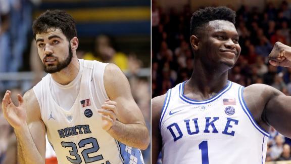 No. 8 North Carolina and No. 1 Duke renew competition this week