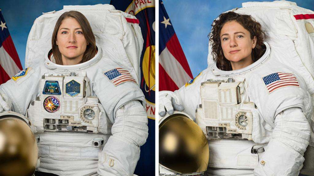 NASA climbs first all-female spacewalk to fix control unit