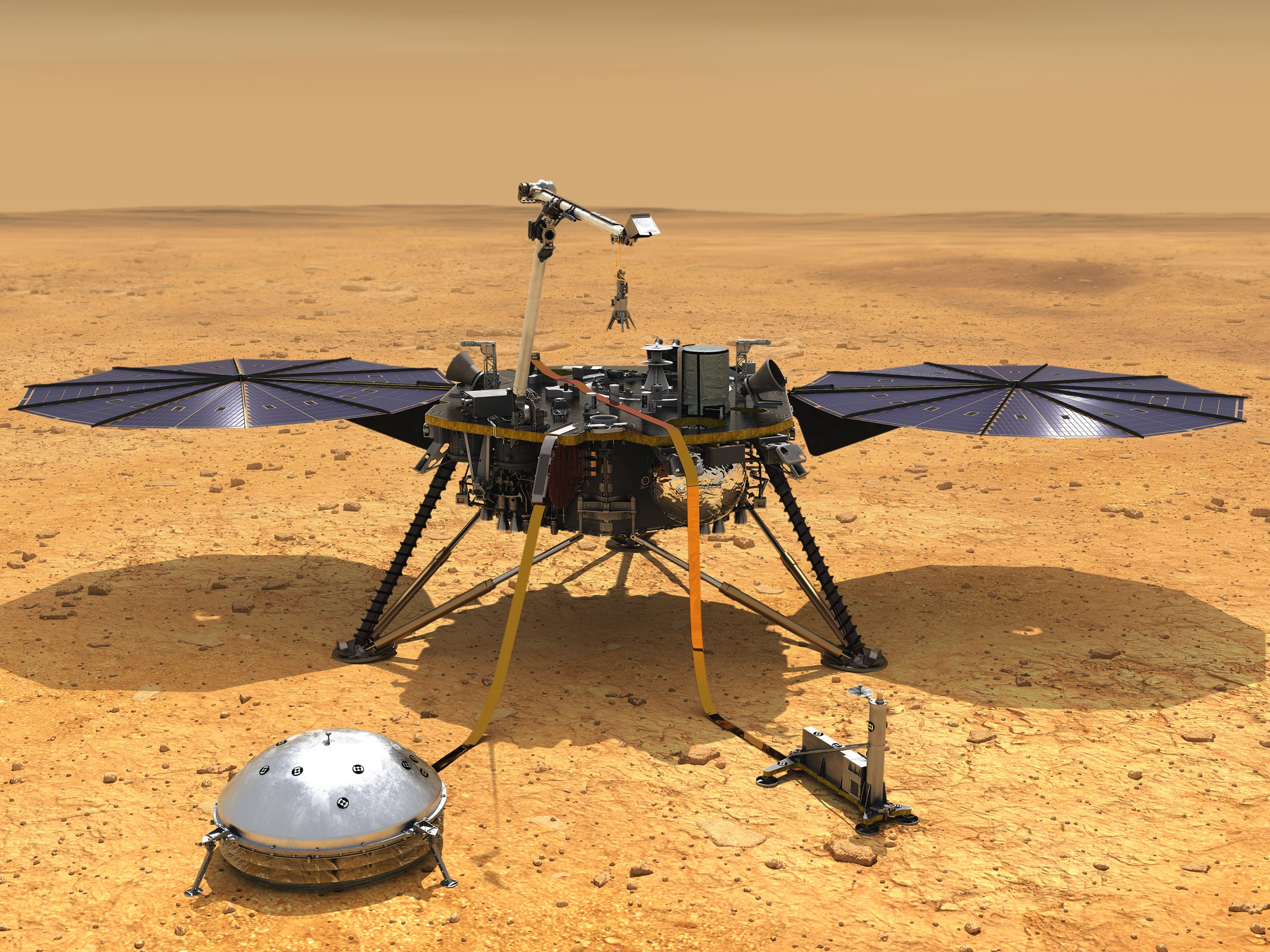 NASA has new arrangement for getting the InSight lander burrowing once more