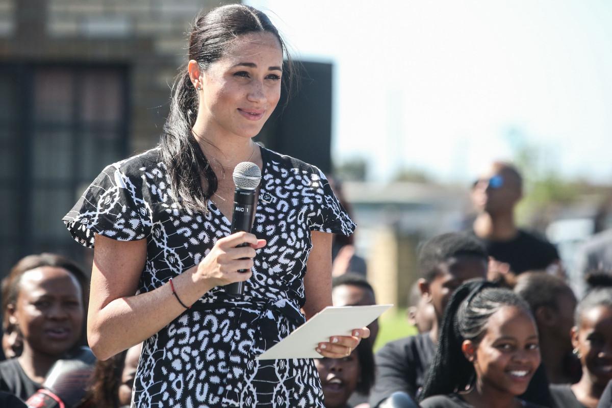 During illustrious voyage through Africa Meghan Markle put on $85 Clothes